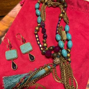 Silpada jewelry set (earrings and necklace)